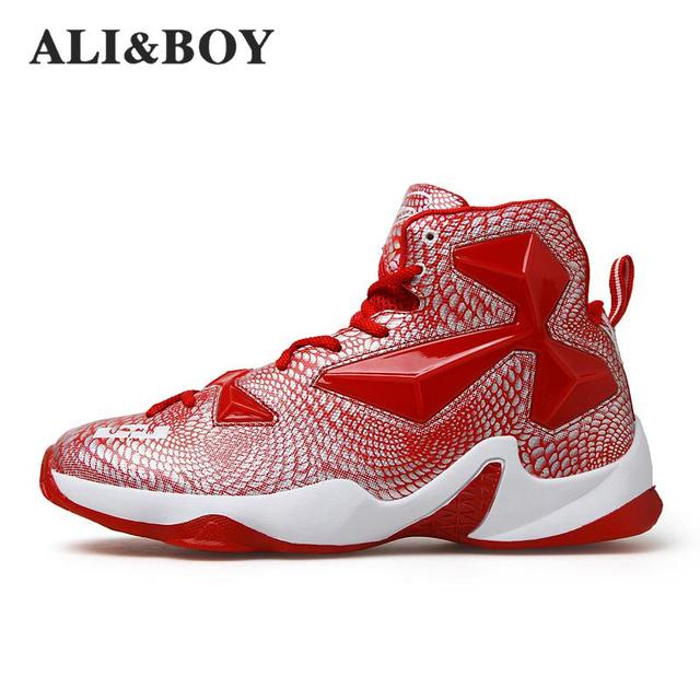 Aliboy Mens Basketball Shoes Lebron James Shoes Plus Size 36-45 Lace Up  Sneakers Trainers 0a06deaac97