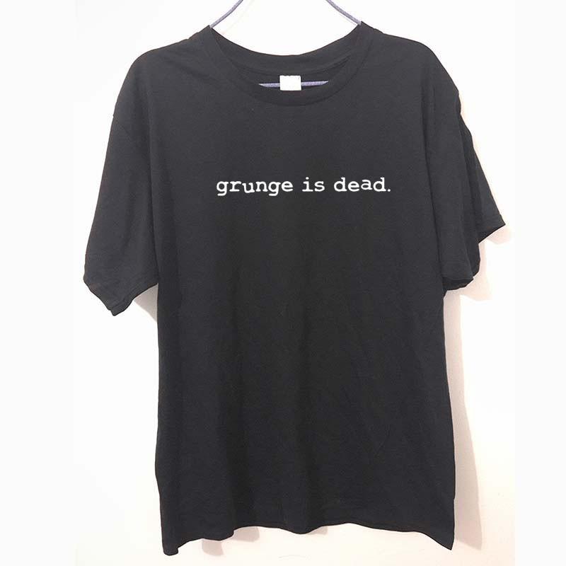 New Summer Grunge is Dead kurt cobain nirvana 90s rock Funny   T     Shirt   Men Funny Cotton Short Sleeve   T  -  shirt   Tshirt camiseta