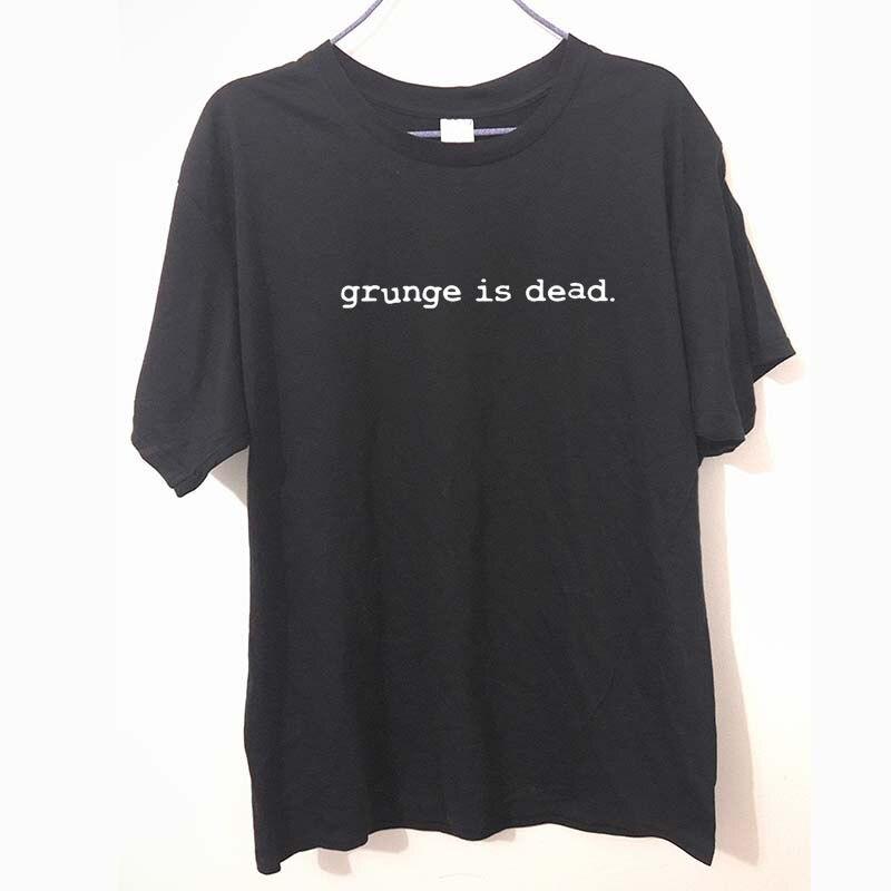 Novo verão grunge é morto kurt cobain nirvana 90s rock engraçado t camisa masculina algodão engraçado manga curta camiseta camiseta