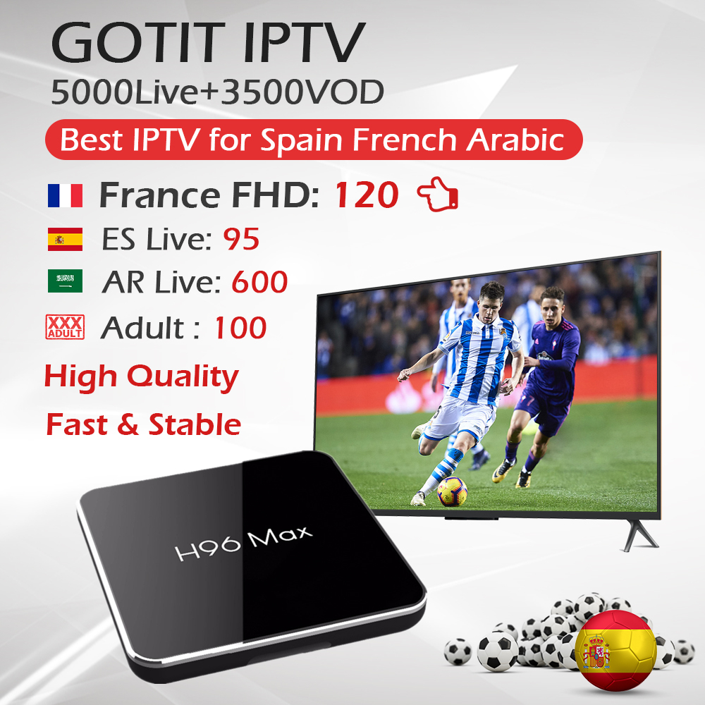 H96 MAX X2 Android 8 1 TV Box 4G 64G S905X2 BT4 0 1 Year French