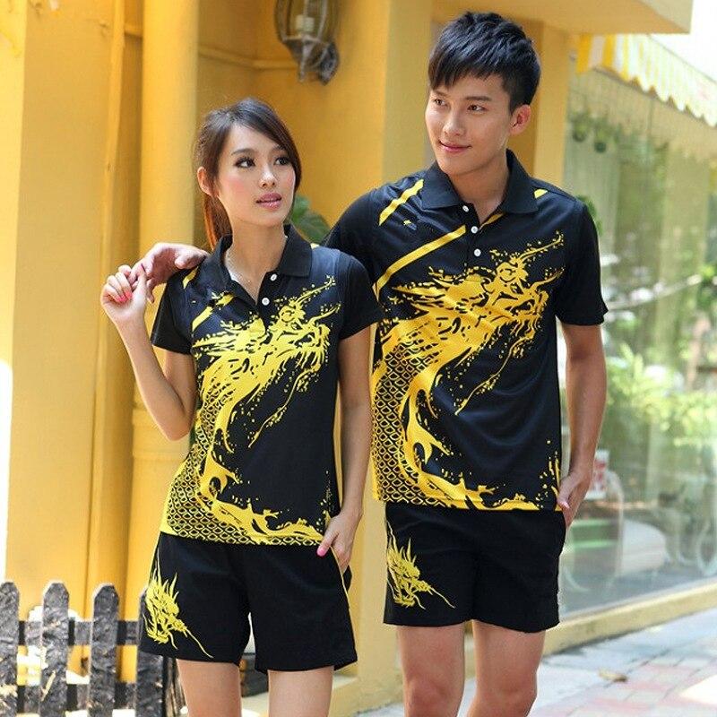 Men&Women Tracksuit Jersey Breathable Badminton Shirt Uniforms Table Tennis Clothes Team Game Short Sleeve T Shirts & Shorts