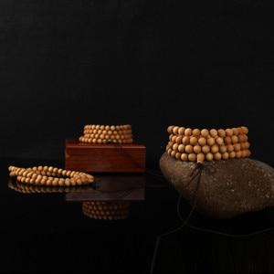 Image 5 - 6 8mm 108 Wenge Wooden Prayer Beads Tibetan Buddhist Buddha Bracelet For Women Men Bangle Jewelry