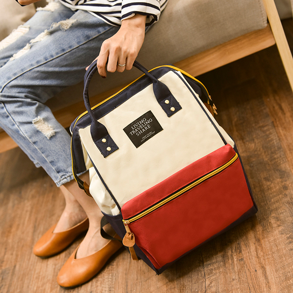 Fashion Backpack Living Travelling Share Unisex Solid Backpack School Travel Bag Double Shoulder Bag Zipper Bags одежда на маленьких мальчиков
