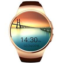 ใหม่สมาร์ทนาฬิกาKw18นาฬิกาบลูทูธสำหรับip hone a ndroid h eart rate monitor relógio femininoซิมการ์ดMp3/Mp4เครื่องเล่นนาฬิกา