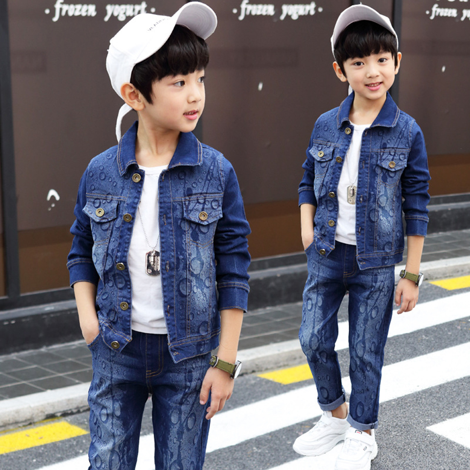 Good Quality Baby Clothes Coat + Pants 2Pcs Fashion Cotton Denim Sets 2018 Baby Boy Boys Clothes Suits Children Boys Clothing spring summer newborn clothing sets coat pants short gentleman baby suits infant boys clothes outfits toddlers clothing boy coat