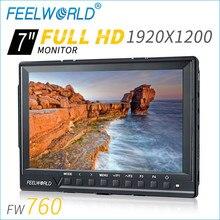 Feelworld 7Inch IPS 4K Full HD 1920×1200 HDMI On-Camera Field Monitor with Peaking Focus Assist Histogram Zebra FW760