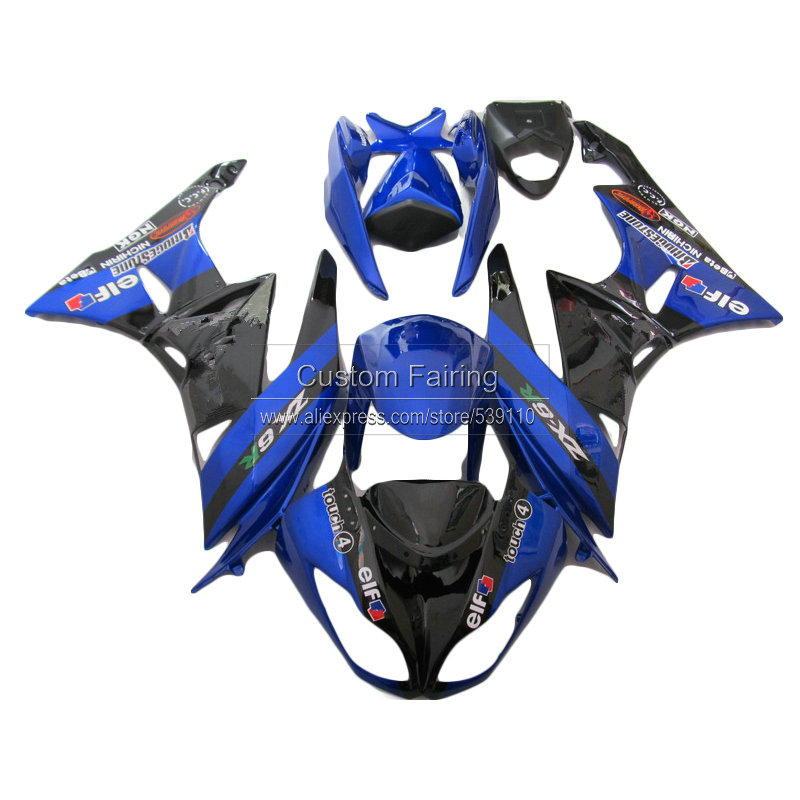 Blue Motorcycle parts for Kawasaki ZX6R ZX-6R Ninja 09 10 11 12 2009 2010 2012 fairings  fairing kit xl44 hot sales for kawasaki ninja kit zx6r 09 10 11 12 zx 6r 636 zx636 2009 2012 zx 6r motorcycle fairings parts injection molding