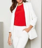 Белый минималистский Для женщин брюки костюмы красивые костюмы для девочек рабочие костюмы Офисные женские туфли костюмы индивидуальный з
