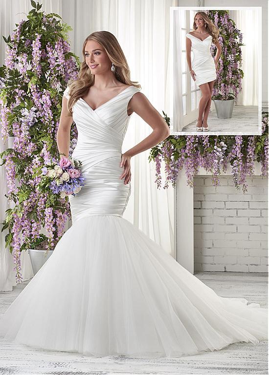 Mermaid Wedding Dresses Fabulous Satin Off the shoulder Neckline 2 ...