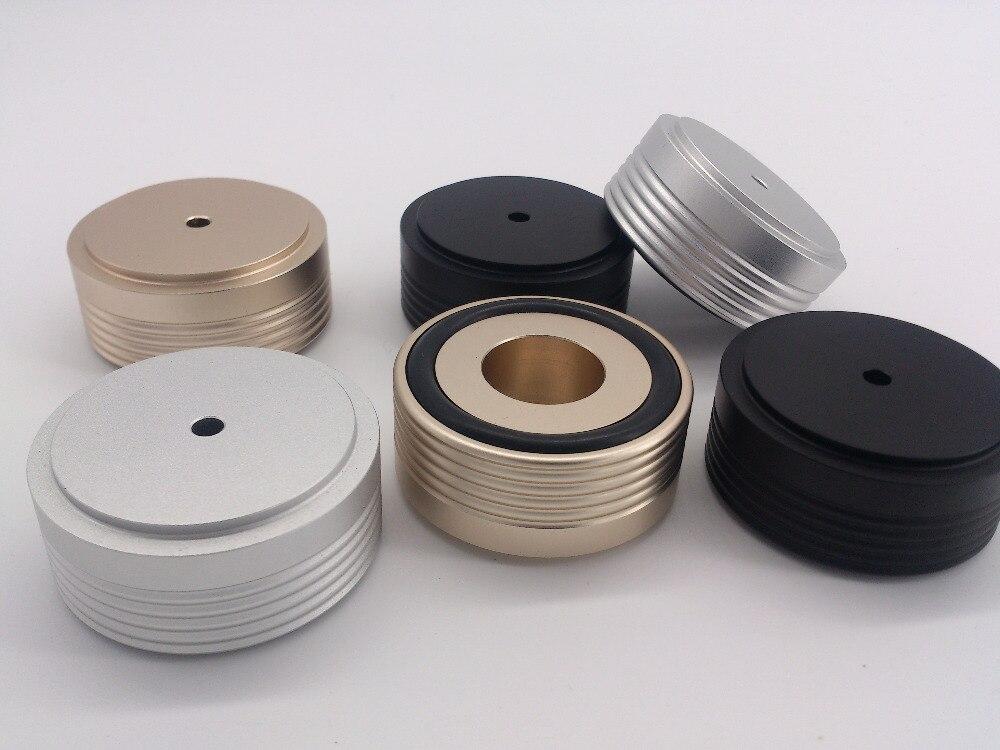 4 Stks 49*22mm Diameter 49 Hoge 22 Audio Versterker Aluminium Voeten Met Schroefdraad/luidspreker Spikes/schokdemper Kussen