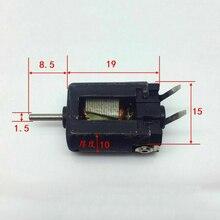 Микро-15 мм двигателем высоким разрешением Скорость с источником питания от постоянного тока, 6 V-12 V 27000 об/мин мини-двигатель 1,5 мм вал Диаметр оси DIY слот автомобиль Лодка игрушечный Радиоуправляемый автомобиль