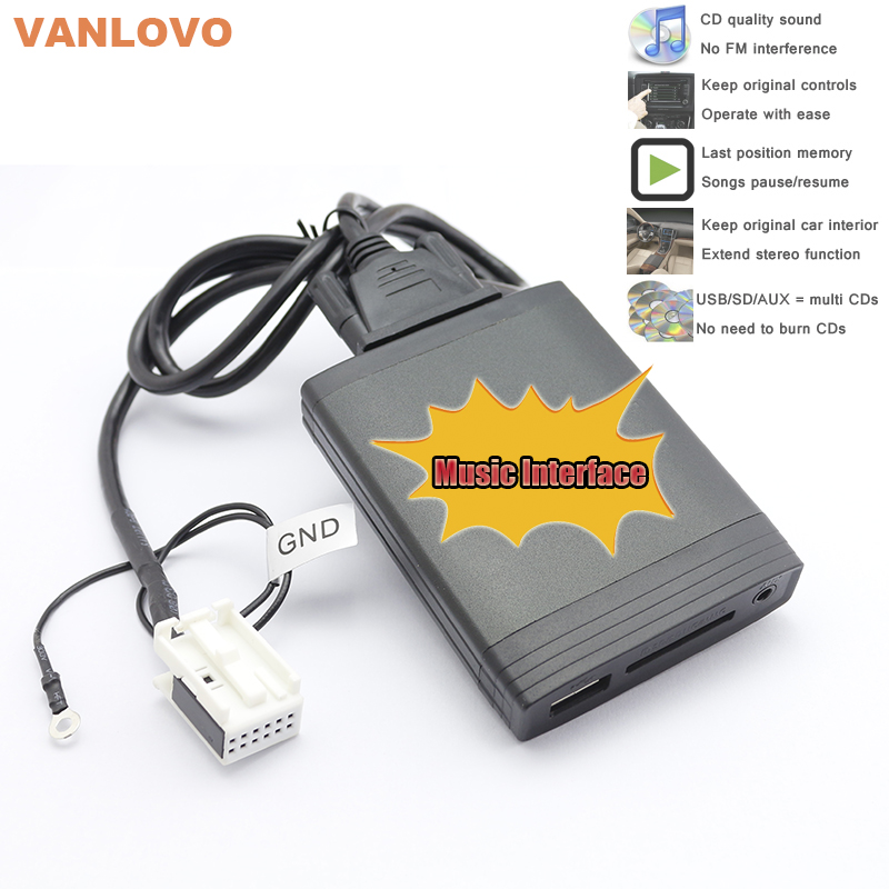 YATOUR Digital Music Changer AUX SD USB MP3 Adapter for VW Radio Delta MFD2 Premium R100 R110 RCD200 RCD210 RCD300 RCD500 RNS300 yatour for vw radio mfd navi alpha 5 beta 5 gamma 5 new beetle monsoon premium rns car digital cd music changer usb mp3 adapter