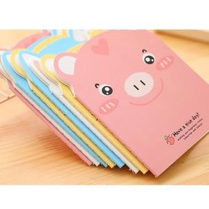 Image 3 - 20 unids/lote pequeño cuaderno de papel con forma de cerdo bonito, diario, papelería, suministros para estudiantes