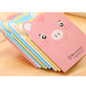 Image 3 - 20pcs/lot Cute Pig shape Small  Notebook Paper Book Diary Notebook Stationery student supplies