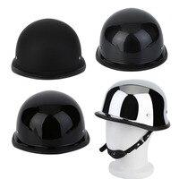 Xe máy Mũ Bảo Hiểm Độc Đáo 4 Loại M/L/XL Phong Cách Đức Nửa Khuôn Mặt Đức Helmet Mạ Điện Xe Máy Cổ Điển Đội Mũ Bảo Hiểm
