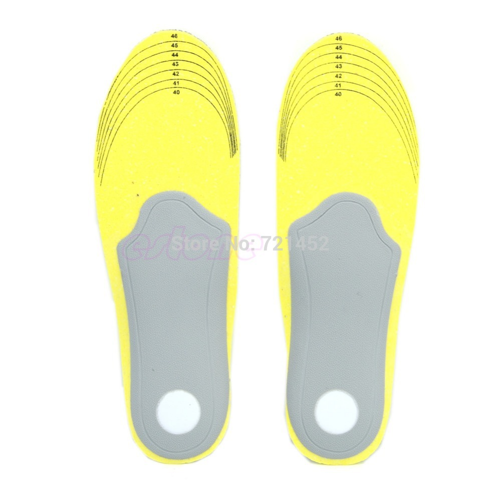 THINKTHENDONEW US 7.5-12.5 Men Footful Arch Support Insoles Flat Shoes Pads With Cuttable