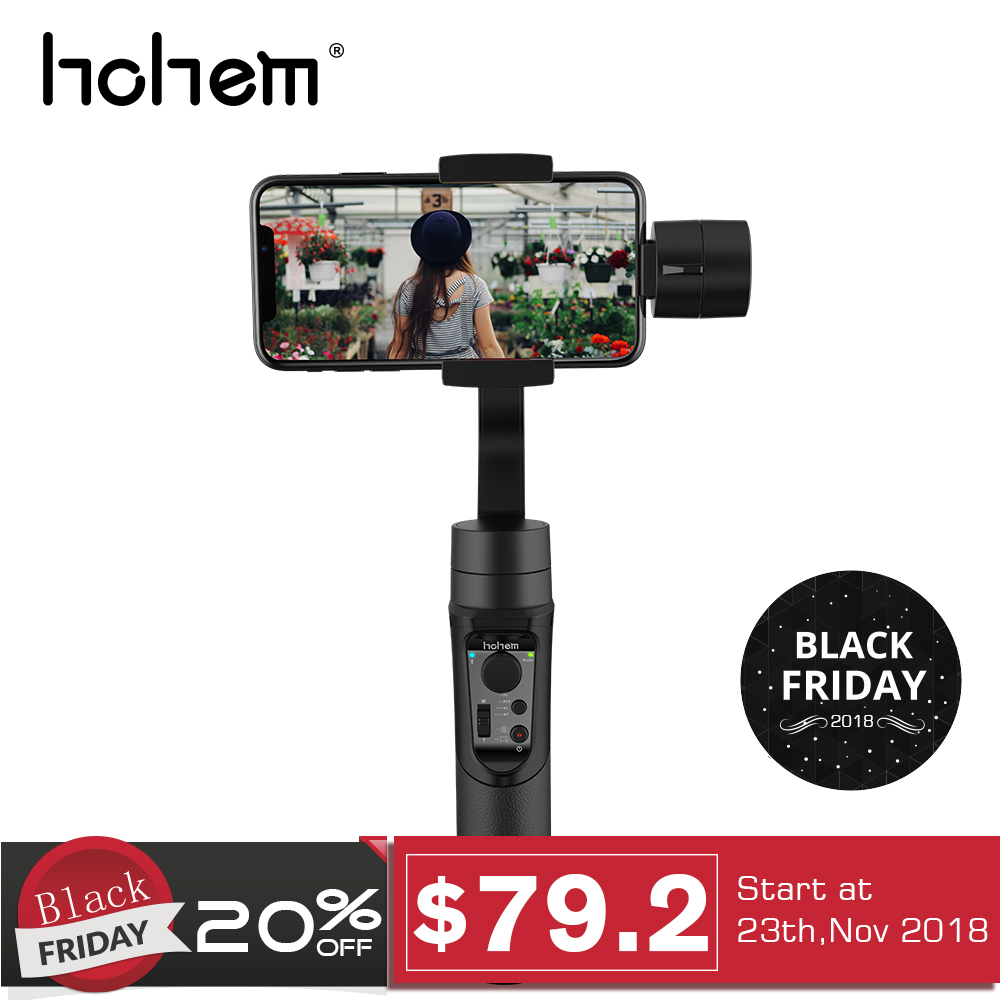 Hohem iSteady Mobile Smartphone Gimbal 3 Axis Handheld Stabilizer for iPhone XS XR X 8 7