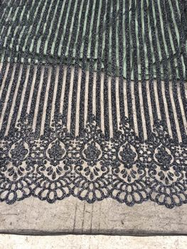 SYJ-8121 black glitter mesh african indian lace fabric for wedding /evening dress