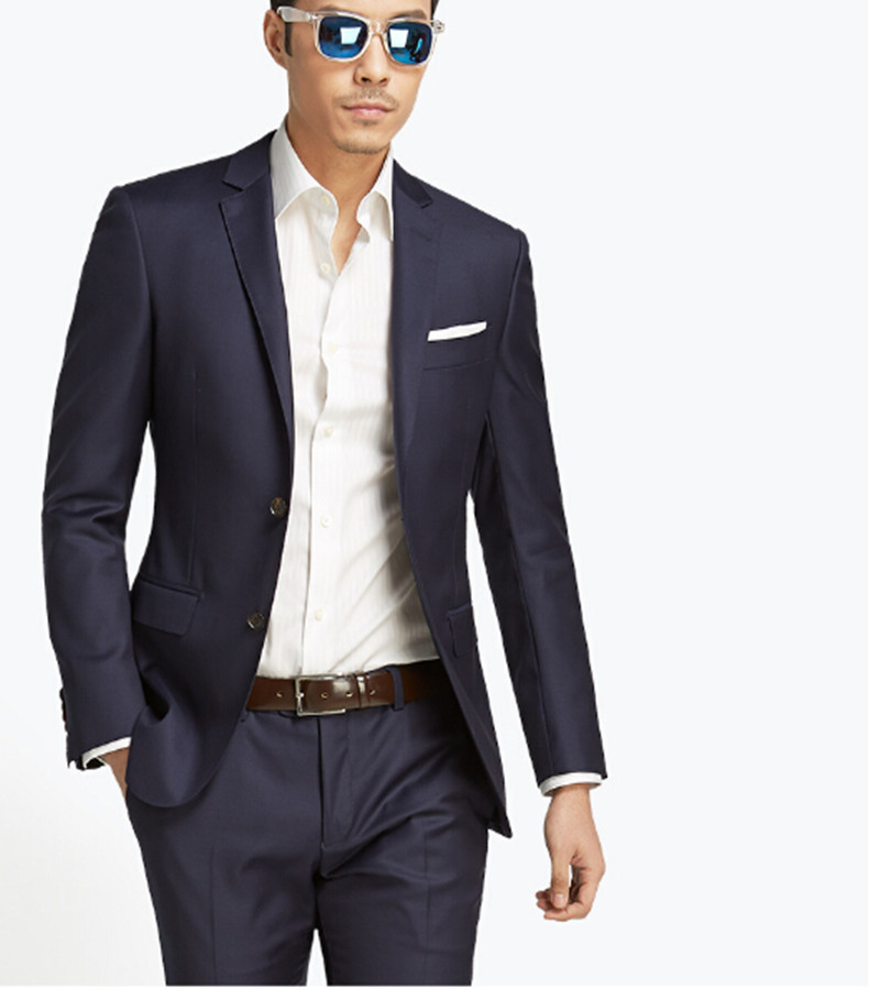 Casual man's suits two buttons wedding party formal suits man ...