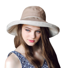 Connectyle Womens Summer Cotton Fold up Wide Brim Sun Bucket Hat UPF50 Beach