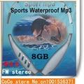 Nueva Función de 8 GB Natación Buceo Waterproof MP3 Player Deportes Reproductor de MP3 Con FM Radio de Auriculares Envío Gratis