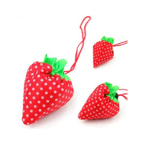 Strawberry Folding Fold up Reusable Compact Eco periodic Recycling Shopping Bag ...