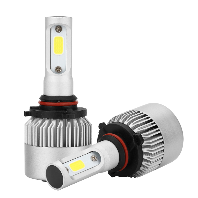 S2 H1 H3 H7 H11  9005 9006  COB Led Car Headlight Light Replacement Bulb Canbus 6500K Auto DRL Fog Driving Lamp 72W