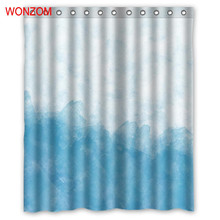 WONZOM 3D Polyester Fabric Ice Shower Curtains with 12 Hooks For Bathroom Decor Modern Bath Waterproof Curtain Gift