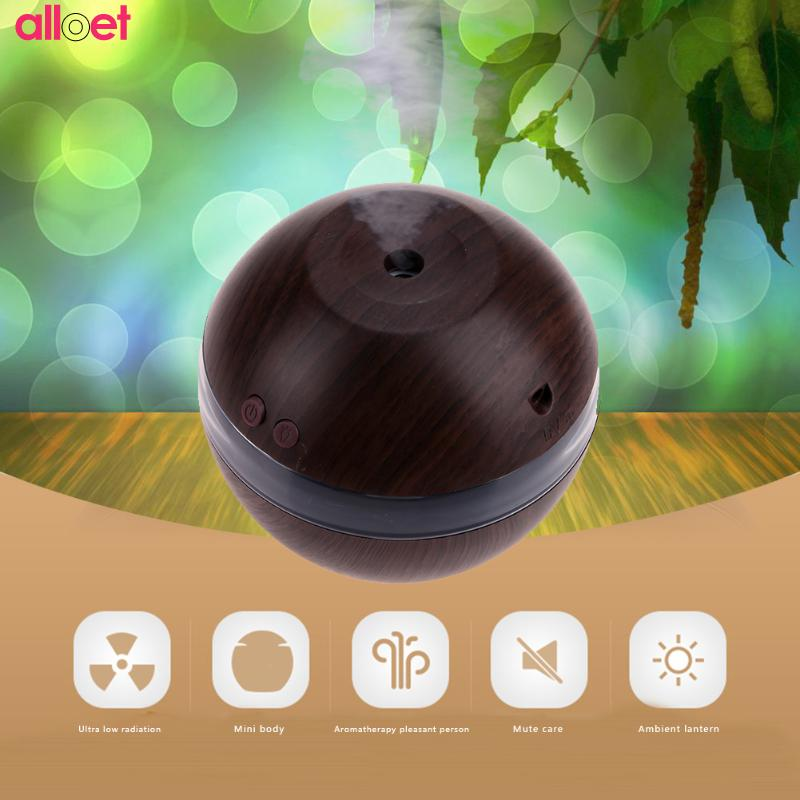 Mini USB Wooden grain Ultrasonic Air Humidifier Portable Aromatherapy Machine Mist Maker fogger Air Purifier for Home Office Car mini portable air humidifier usb humidifier home desktop humidifier mist maker mini moisture fogger office