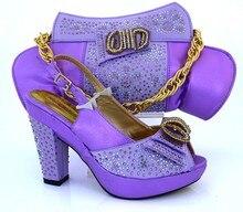 Mode Italienische Frau Schuhe Mit Passenden Taschen Sets Für Party Hohe Qualität Schuhe Und Taschen Mit Steinen MM1019
