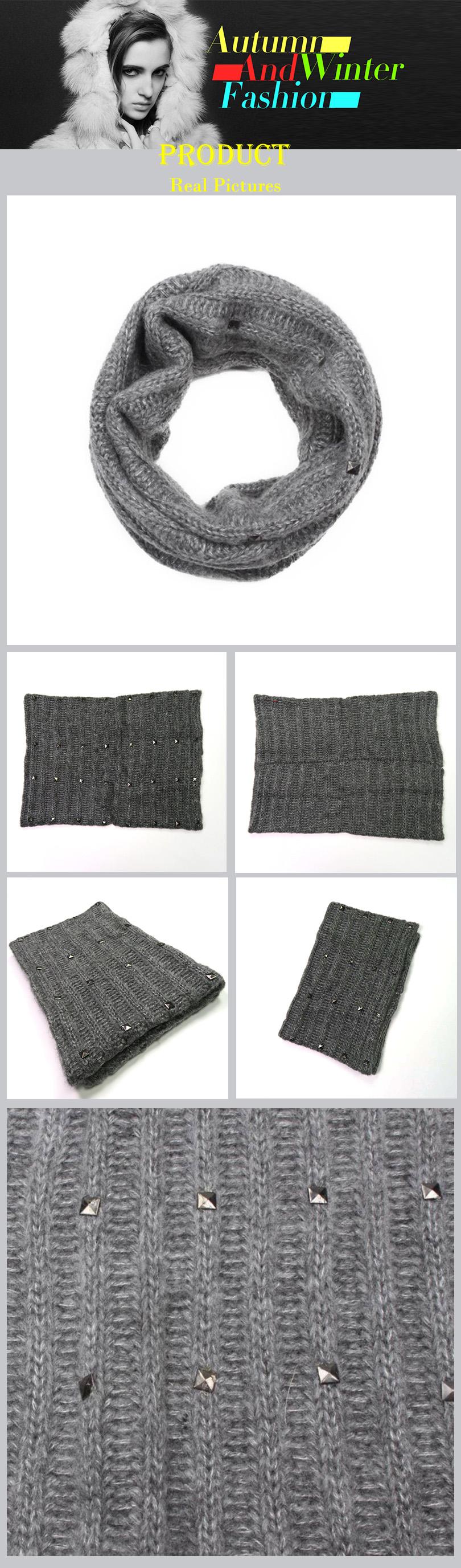 Bufandas de remache Mohair 1