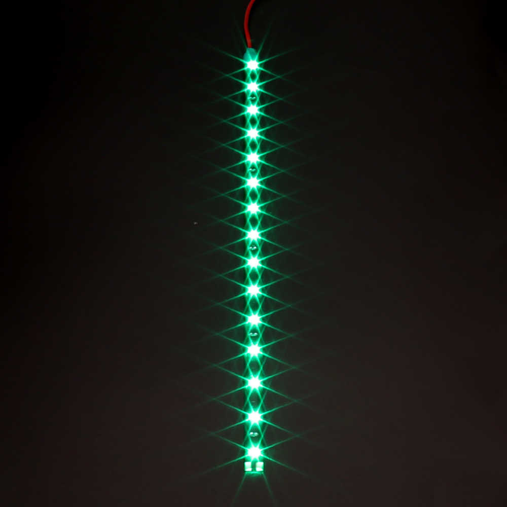 """12 فولت 11.8 """"15SMD إضاءة مقاومة للماء النهار تشغيل ضوء 30 سنتيمتر سيارة مرنة LED قطاع ضوء سيارة الزخرفية DRL سيارة التصميم"""