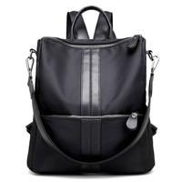 2017 New Fashion Women Backpack Canvas Nylon Oxford Spinning Multifunction Big Bag Famous Designer Chain Shoulder