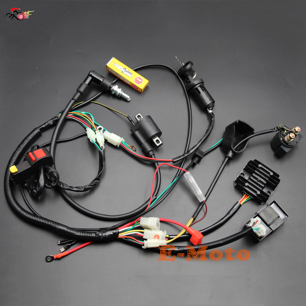 online get cheap complete wiring harness com alibaba complete electrics wiring harness ngk spark plug cdi ignition coil kits for chinese dirt bike 150cc 200cc 250cc zongshen loncin