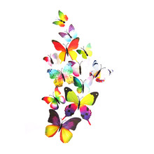 12pcs decal wall stickers home decorations 3D butterfly rainbow wall stickers bedroom home decor baby room