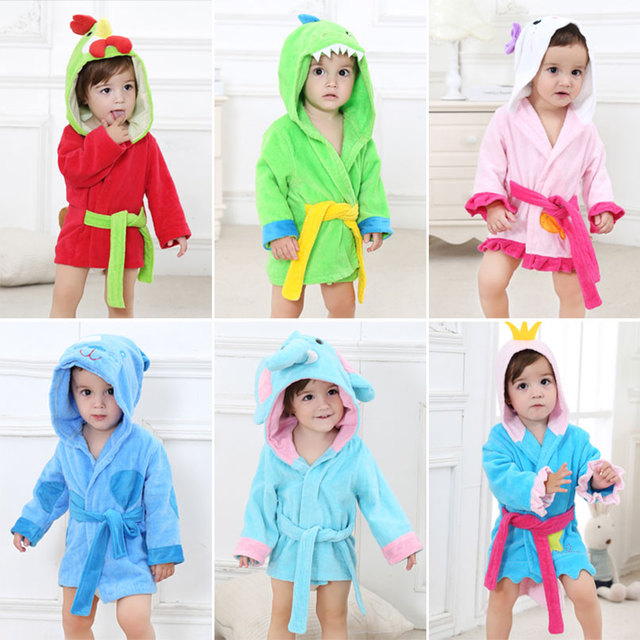 Baby Robe Monster bath towel bathrobe Cape animal Cute children Pajamas  Cartoon cotton boys Girls clothes 02404e935