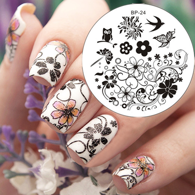 1 Pc Charming Spring Flower Nail Art Stamp Template Image Plate