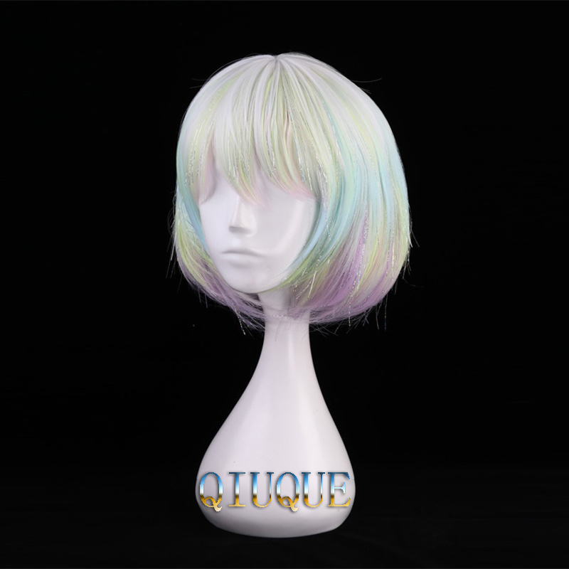 Image 3 - High Quality Anime Land Of The Lustrous Houseki no Kuni Diamond Cosplay Wig Heat Resistant Synthetic Hair Wigs + Wig Cap-in Anime Costumes from Novelty & Special Use