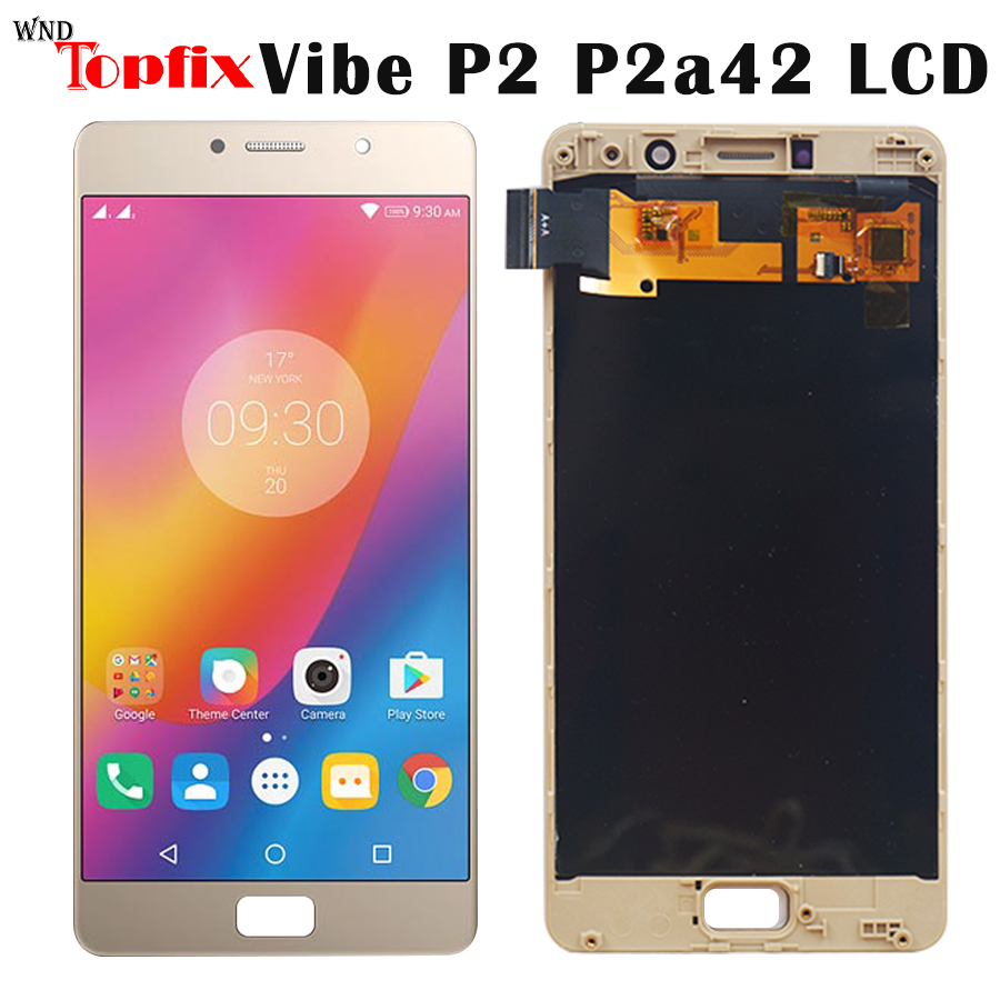 100 New Tested For 5 5 Lenovo P2 LCD Display Touch Screen Digitizer Assembly With Frame