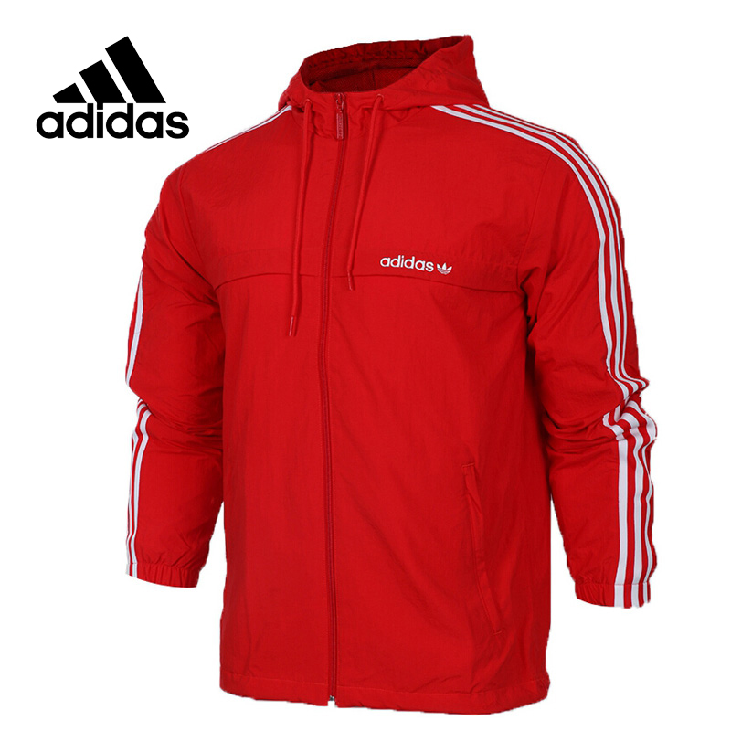 Original New Arrival Official Adidas 3STRIPED WB Men's jacket Hooded Sportswear adidas original new arrival official women s tight elastic waist full length pants sportswear aj8153