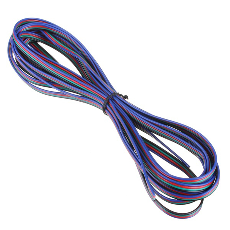 5m 4 Pin Rgb Led Extension Wire Connector Cable Cord For