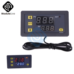 W3230 DC 12V 20A Digital Temperature Controller Red And Blue Display 20A -55~120 Degree Temperature Measurement Data Save