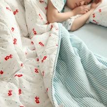 100% Cotton Japan Zakka Style 2 Pillow Case 1 Duvet Washes Cute Filling Bedding Sets Goldfish Printed Retro Bedclothes 3pcs