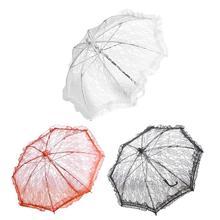 Mariage fleur fille dentelle parapluie Style européen et américain mariée décoration parapluie trompette photographie accessoires