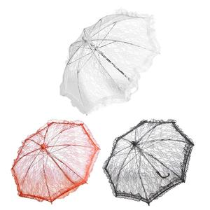 Image 1 - Wedding Flower Girl Lace Umbrella European And American Style Bride Decoration Umbrella Trumpet Photography Props