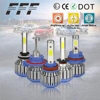 2pcs LED Lamp H4 H7 H1 H3 H11 H13 9005 HB3 9006 HB4 9007 HB5 9004