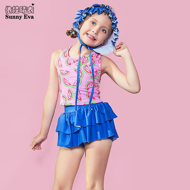 dd2c50d91 sunny eva girl child swimsuit ruffle sexy kids bikini swimsuit for children  bathing suit separate two
