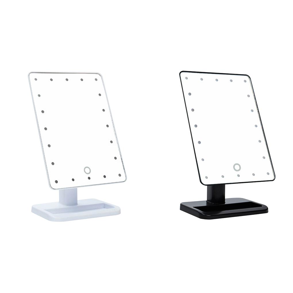 leds luces luces de espejo de maquillaje espejo de aumento ajustable de pantalla tctil negro