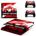 Football Club Spartak Moscow Vinyl Skin Sticker for Sony PS4 Console and 2 Controllers Decal Cover Game Accessories