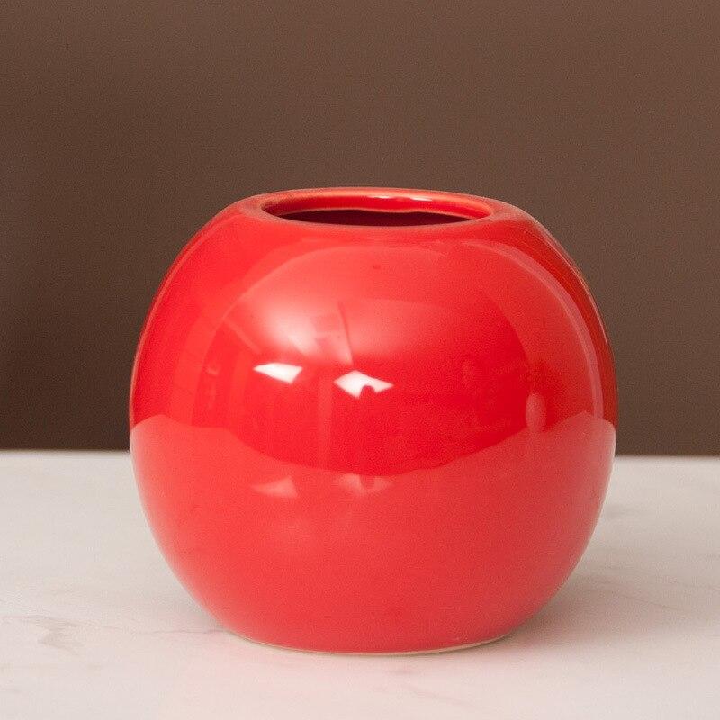 Оптовая продажа домашнего интерьера декоративные Ремесла, керамические творческие украшения, мясистые цветочные горшки, Малый сферическо...